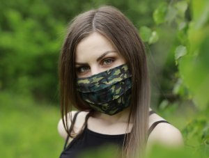 Vojenské maskáčové rúško zelené
