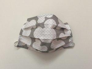 Šedo-biele rúško Mickey Mouse