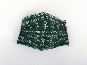 Zelené rúško s čičmianskym vzorom