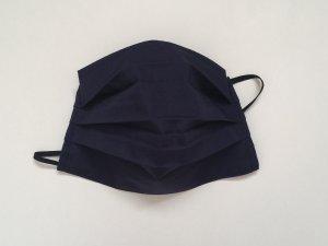 Tmavomodré bavlnené rúško (popelín)