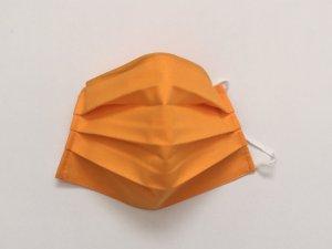 Oranžovožlté bavlnené rúško