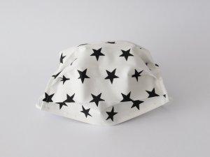 Biele rúško s čiernymi hviezdičkami