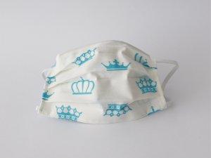 Bavlnené rúško tyrkysové koruny