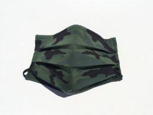 Vojenské maskáčové rúško tmavozelene (úplet)