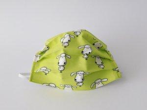 Zelené rúško s bielymi ovečkami