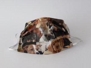 Bavlnené rúško realistické psy