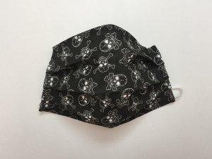 Čierne bavlnené rúško s veľkými lebkami