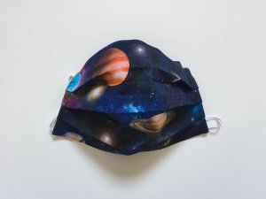 Bavlnené rúško vesmír