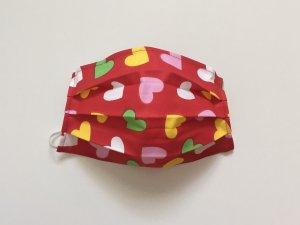Srdiečkové rúško červené (farebné srdiečka)