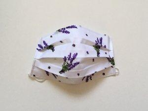 Bavlnené rúško s malou levanduľou