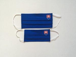 Modré rúško so slovenským znakom