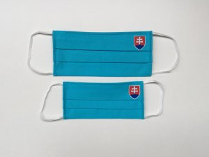 Tyrkysové rúško so slovenským znakom