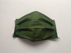 Tmavozelené bavlnené rúško (popelín)