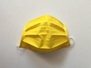 Citrónovožlté bavlnené rúško (popelín)