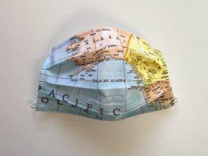 Cestovateľské rúško mapa sveta