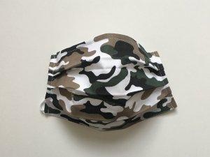 Vojenské maskáčové rúško zeleno-biele