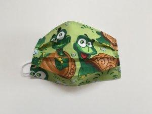 Bavlnené rúško s veselými korytnačkami