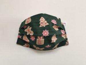 Zelené vianočné rúško s medovníkmi