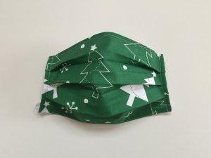 Zelené rúško vianočný stromček