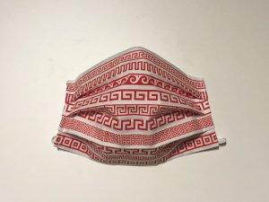Bavlnené rúško s červeným gréckym ornamentom