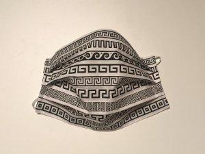 Bavlnené rúško s čiernym gréckym ornamentom